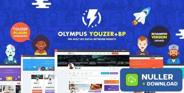 Olympus v3.2 - Powerful BuddyPress Theme for Social Networking