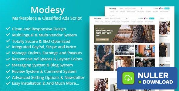 Modesy v1.6 - Marketplace & Classified Ads Script - nulled