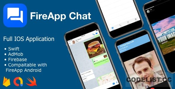 FireApp Chat IOS v1.0 - Chatting App for IOS - Inspired by WhatsApp