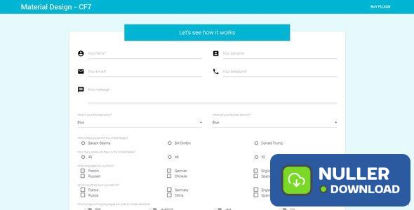 Material Design for Contact Form 7 PRO v2.6.1