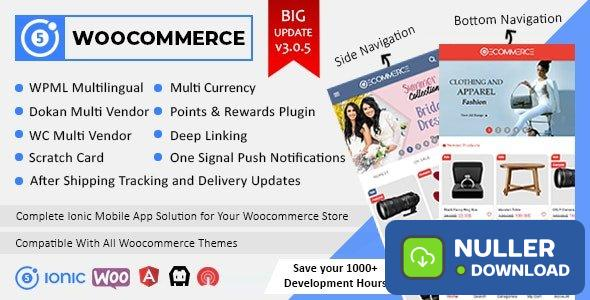 Ionic5 Woocommerce v3.0.6 - Ionic5/Angular8 Universal Full Mobile App for iOS & Android / Wordpress Plugins - nulled