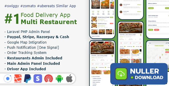 Food, Grocery, Meat Delivery Mobile App with Admin Panel v1.0