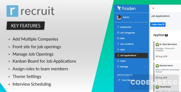 Recruit v2.2.3 - Recruitment Manager - nulled