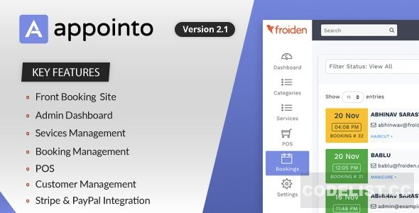 Appointo v2.2.3 - Booking Management System - nulled