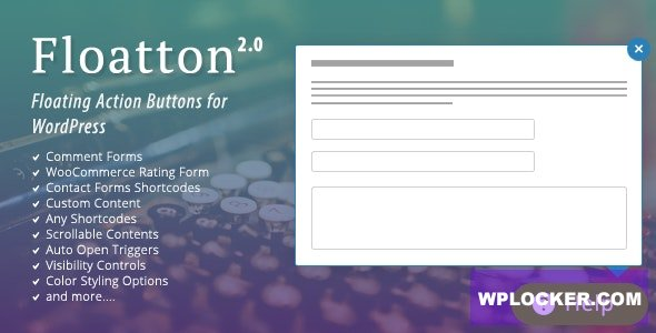 Floatton v2.0 - WordPress Floating Action Button with Pop-up Contents for Forms or any Custom Contents
