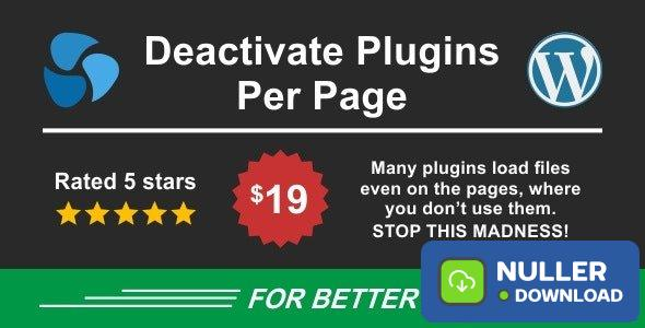 Deactivate Plugins Per Page v1.10.0 - Improve WordPress Performance