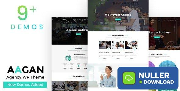 Aagan v2.5 - Agency, Startup WordPress Theme