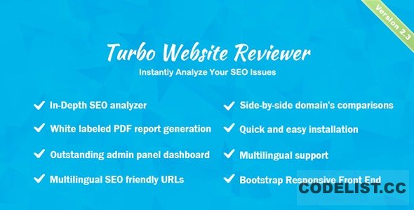 Turbo Website Reviewer v2.3 - In-depth SEO Analysis Tool - nulled