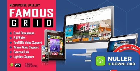 Famous v1.0.2.3 - Responsive Image & Video Grid Gallery for WPBakery Page Builder