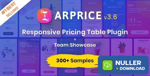 ARPrice v3.6 - Ultimate Compare Pricing table plugin