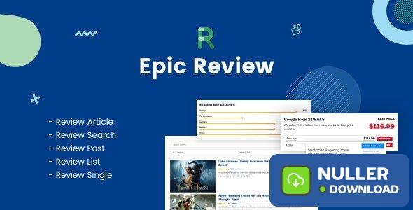 Epic Review v1.0.2 - WordPress Plugin & Add Ons for Elementor & WPBakery Page Builder