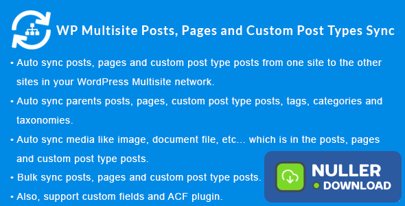 WordPress Multisite Posts, Pages and Custom Post Type Posts Sync v1.4.0