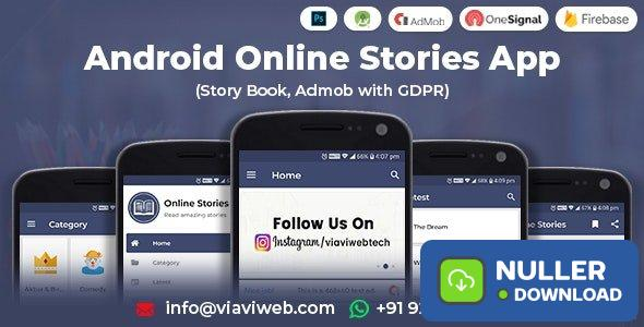 Android Online Stories App (Story Book, Admob with GDPR) v1.1
