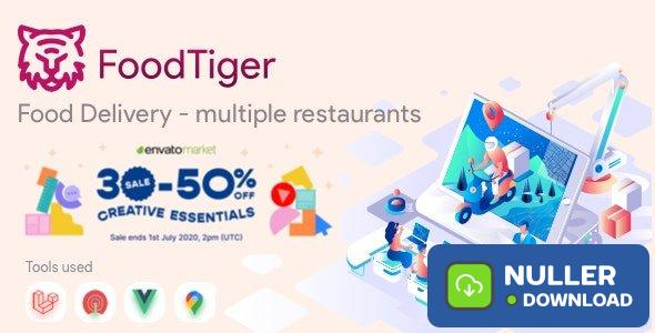 FoodTiger v1.3.0 - Food delivery - Multiple Restaurants