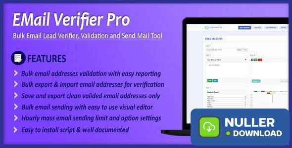 Email Verifier Pro v1.6 - Bulk Email Addresses Validation, Mail Sender & Email Lead Management Tool