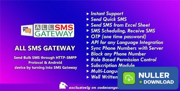 All SMS Gateway v1.0 - Send Bulk SMS through HTTP-SMPP Protocol & Android phone by Turning into Gateway