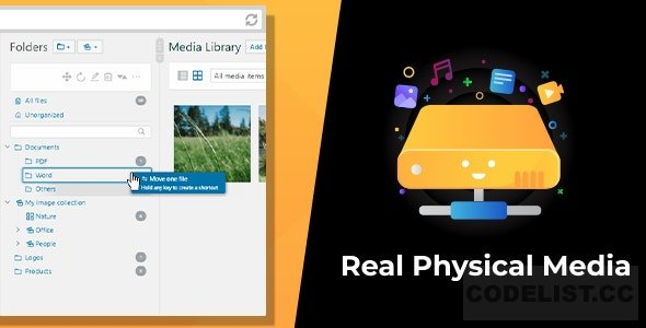 WordPress Real Physical Media v1.1.6 - Physical Media Folders & SEO Rewrites
