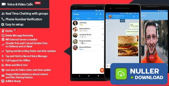FireApp Chat v1.3.0.1 - Android Chatting App with Groups Inspired by WhatsApp