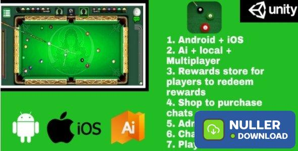 Billiards Multiplayer v1.0 – 8 Ball Pool (With AI and reward store) Android + IOS