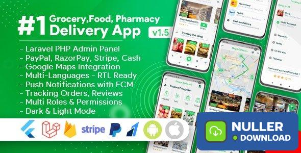 Grocery, Food, Pharmacy, Store Delivery Mobile App with Admin Panel v1.5.0