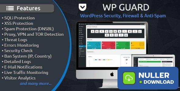 WP Guard v1.4 - Security, Firewall & Anti-Spam plugin for WordPress
