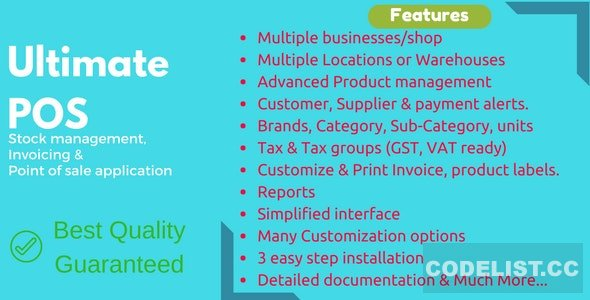 Ultimate POS v3.4 - Best Advanced Stock Management, Point of Sale & Invoicing application - nulled