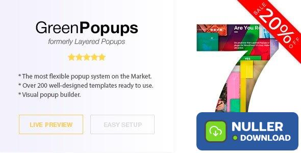 Green Popups (formerly Layered Popups) v7.0.8 - Popup Plugin for WordPress