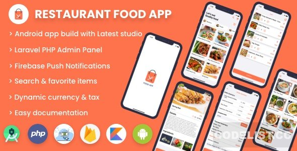 Single restaurant food ordering app v1.0 - Android App with Admin Panel