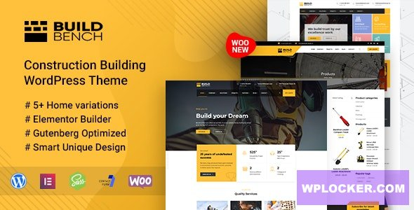 Buildbench v1.7 - Construction Building WordPress Theme