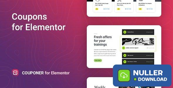 Couponer v1.0.0 - Discount Coupons for Elementor