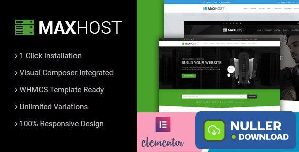 MaxHost v6.1 - Web Hosting, WHMCS and Corporate Business WordPress Theme with WooCommerce