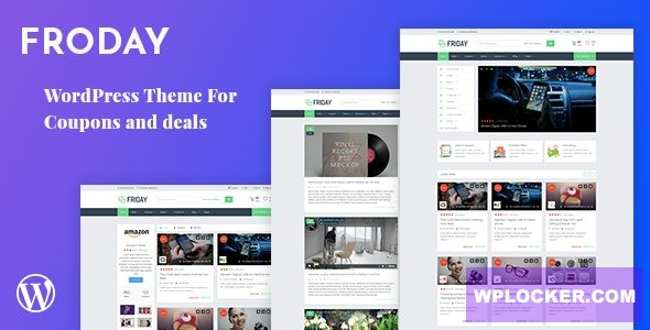 Froday v2.6.0 – Coupons and Deals WordPress Theme