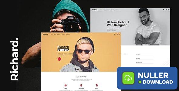 Richard v1.0 - Onepage Personal WordPress Theme