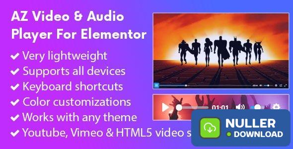AZ Video and Audio Player Addon for Elementor v1.0.8