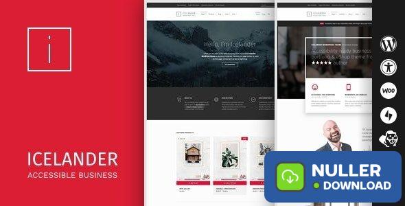 Icelander v1.5.4 - Accessible Business Portfolio & WooCommerce WordPress Theme