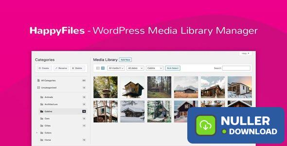 Happy Files Pro v1.1.1 - Organize Your WordPress Media Files