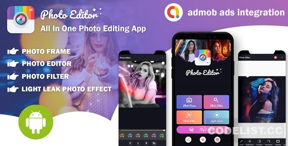 Photo Editor v1.0 - All In One Photo Editing App With Admob Ads