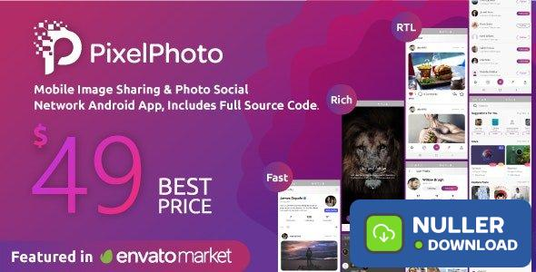 PixelPhoto Android v1.8.3 - Mobile Image Sharing & Photo Social Network Application