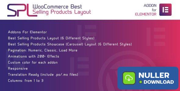 WooCommerce Best Selling Products Layout for Elementor v1.0.0 - WordPress Plugin
