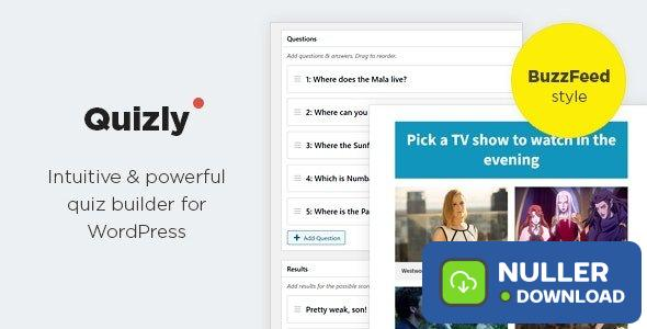 Quizly v1.0.2 - Intuitive & Powerful Quiz Plugin for WordPress