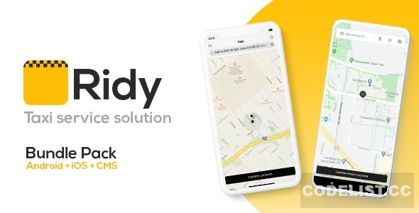 Ridy v3.3.1 - Taxi Application Android & iOS + Dashboard