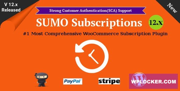SUMO Subscriptions v12.0 - WooCommerce Subscription System