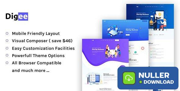 Digee v1.0.7 - Digital Marketing Agency WordPress Theme
