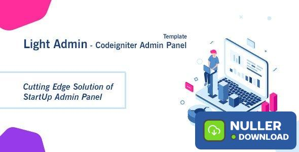 CI StartUp Admin Panel Template + Login Auth v1.0