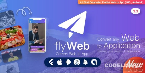 FlyWeb for Web to App Convertor Flutter + Admin Panel v1.3