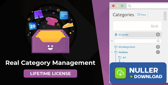 WordPress Real Category Management v3.3.2 - Content Management in Category Folders with WooCommerce Support