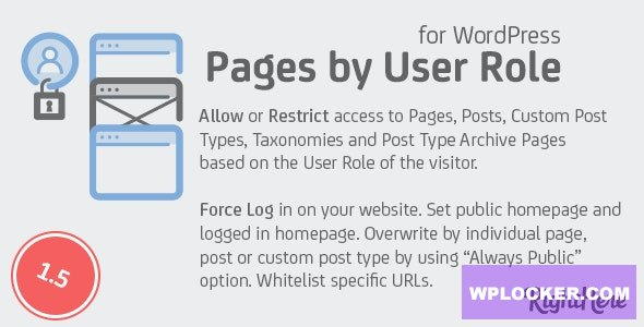Pages by User Role for WordPress v1.5.0.97742