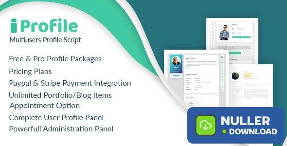 iProfile v1.6 - Multiuser Profile & Resume Script (SASS)