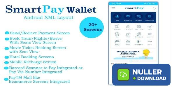 SmartPay Wallet v1.0 - Android XML Screens Layout