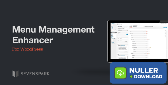 Menu Management Enhancer for WordPress v1.2